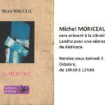 """Dédicace du dernier livre de Michel Moriceau, """"La vie en vrac"""" chez Landru"""